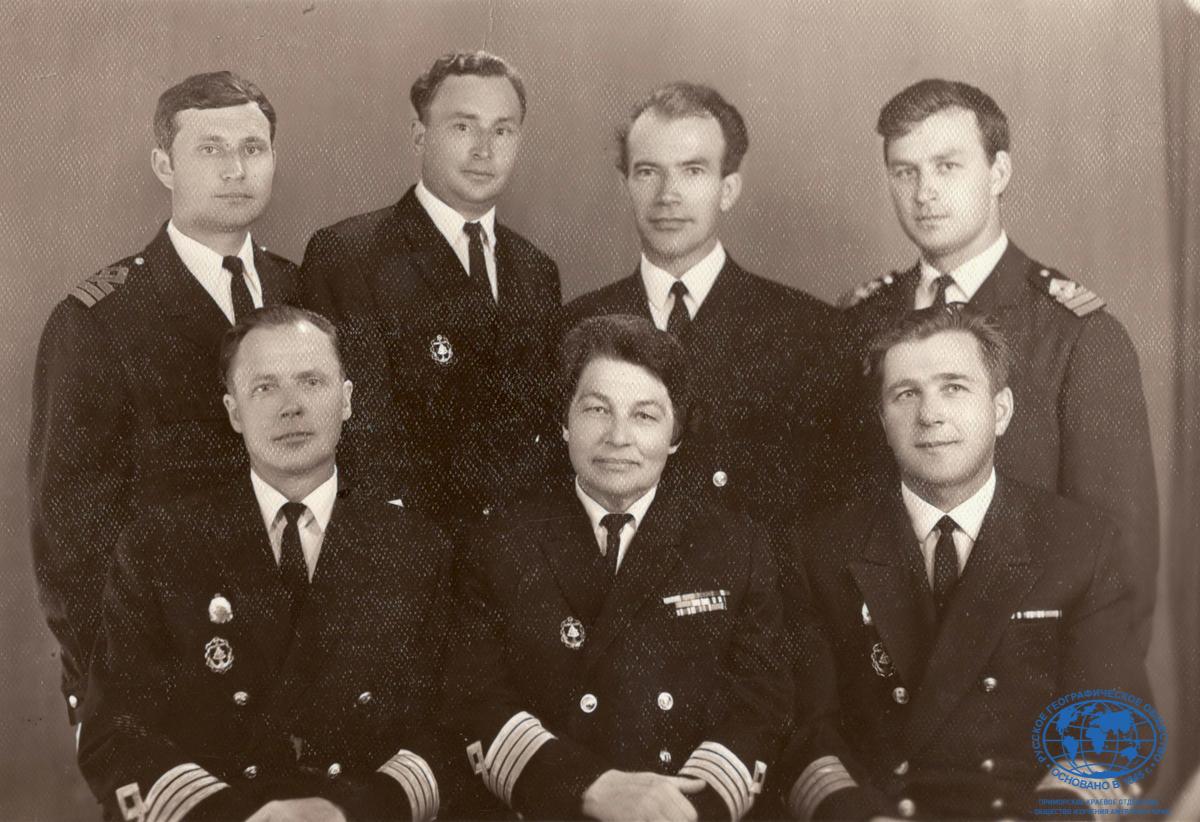 Состав кафедры «Управления судном» ДВВИМУ им. Невельского, 1970 год