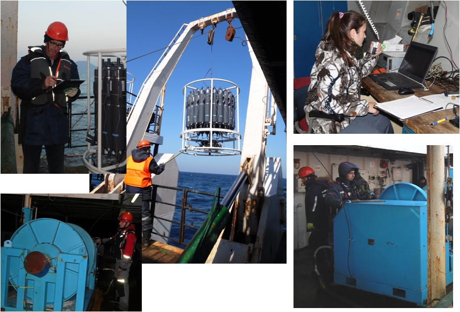 Проведение гидрологических, гидрохимических и газогеохимических исследований на международном разрезе мониторинга толщи вод Японского моря NEAR GOOS.