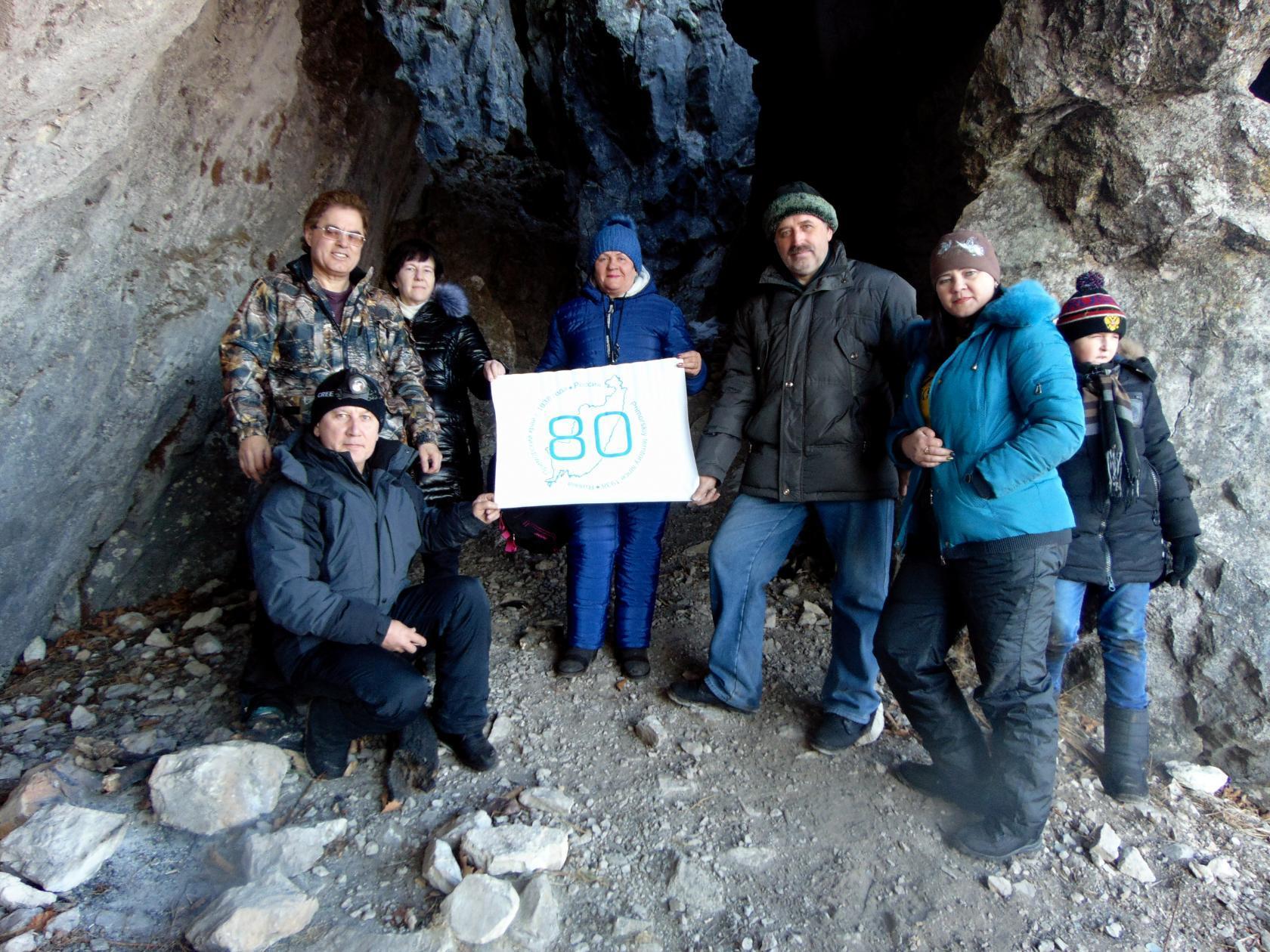 В пещере  Мечта спелеолога. Фото Евгения Ковешникова