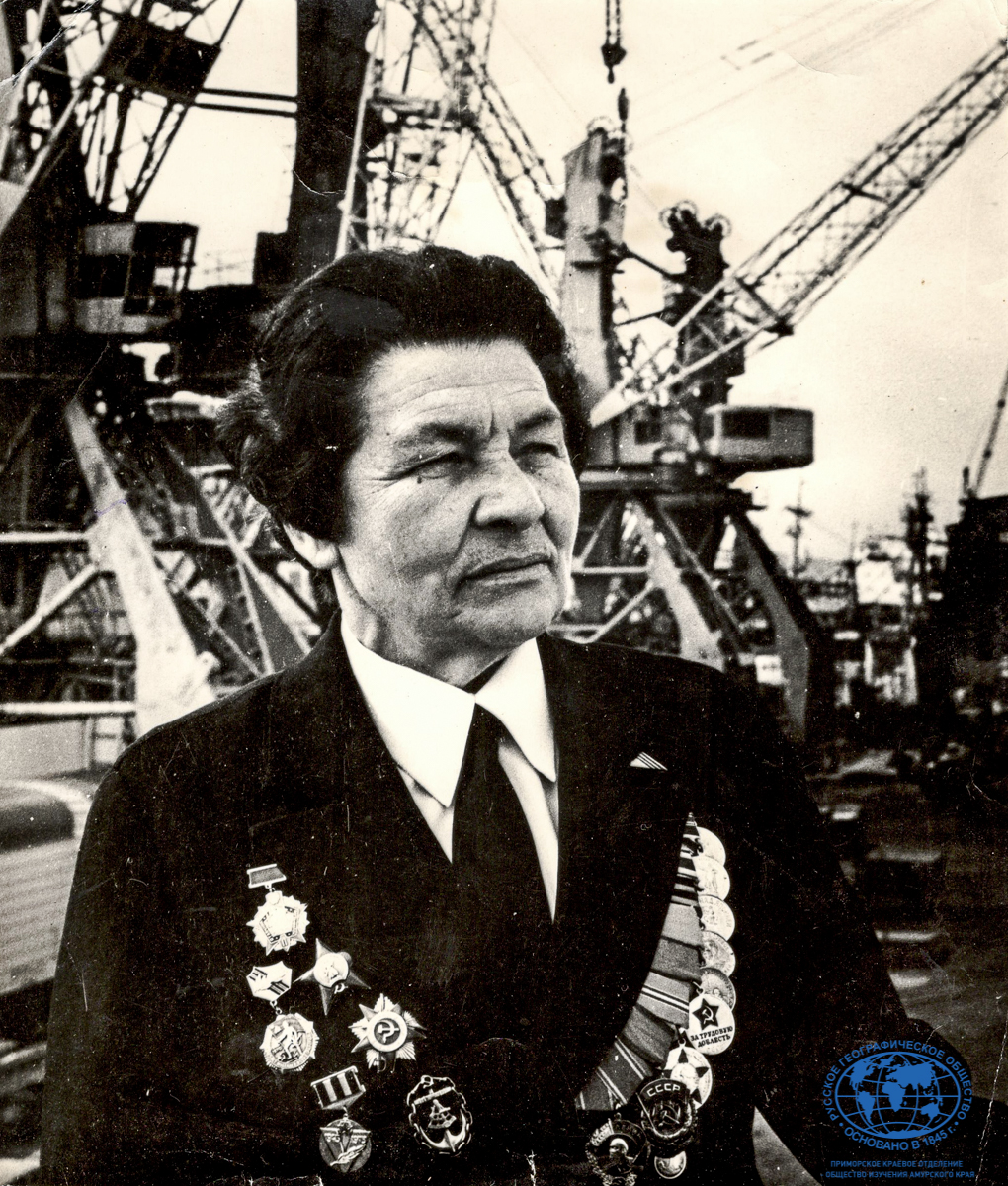 А.И. Щетинина Капитан-наставник Дальневосточного морского пароходства, 1977 год