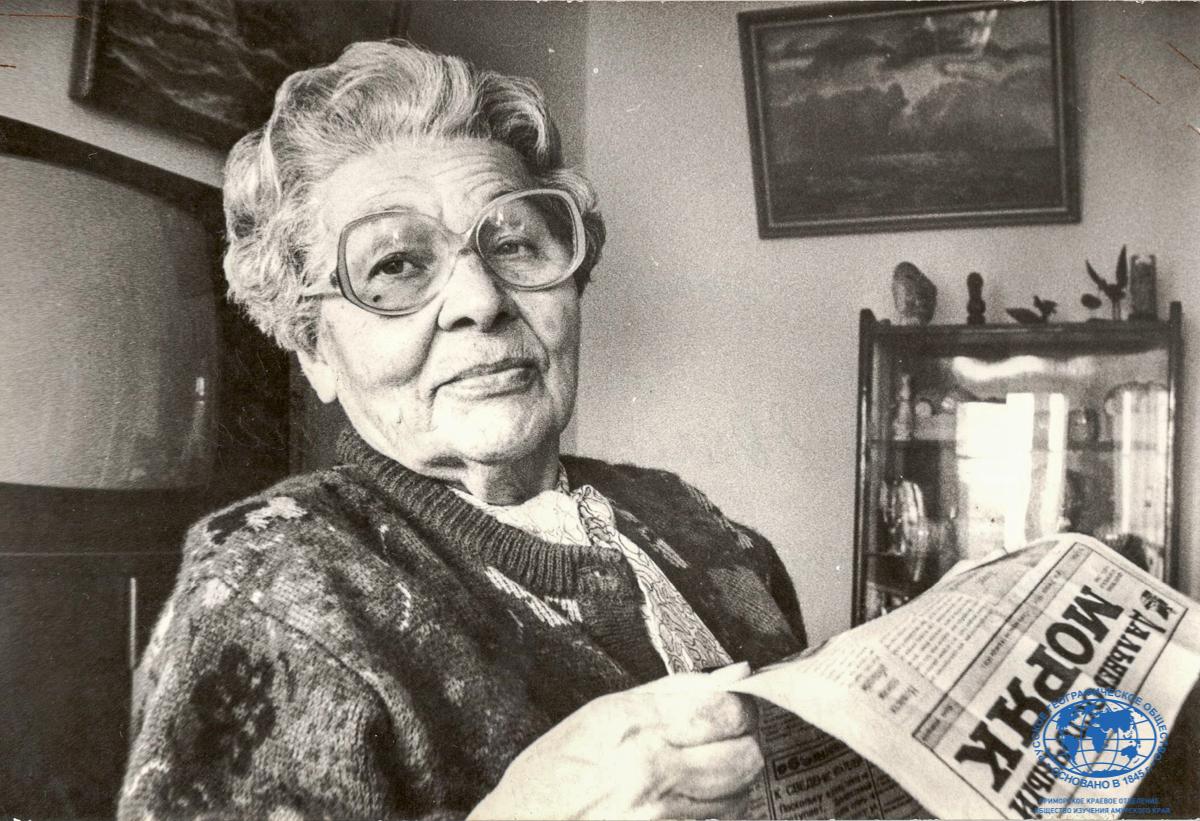 А.И. Щетинина 80-летний юбилей. Со времени выхода (с 14 января 1930 года) читает эту газету (раньше называлась «Румба»)