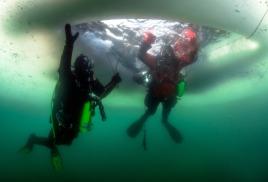 Приморские дайверы совершили погружение на Крещение (фото)