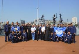 Географы на борту учебного корабля «Перекоп»