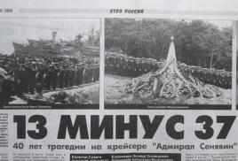 Мы помним. 40 лет трагедии на крейсере «Адмирал Сенявин»